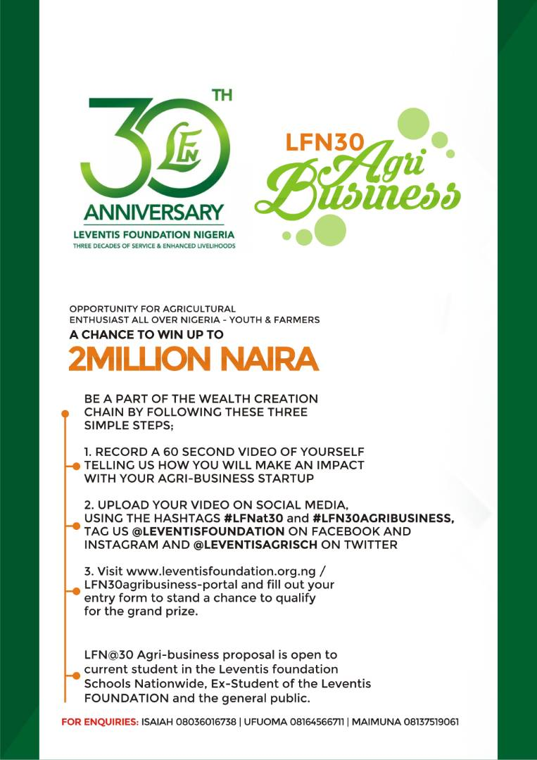 LFN@30 Agribusiness Pitch Competition Portal