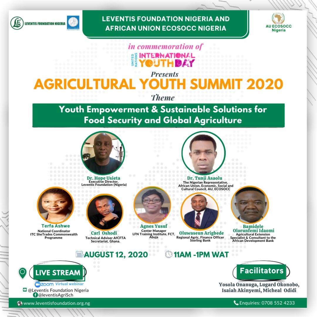 AGRICULTURAL YOUTH SUMMIT 2020 WEBINAR REGISTRATION