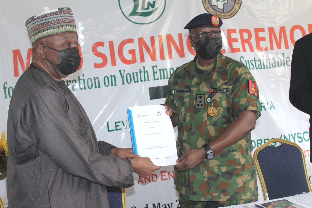 MOU Signing Ceremony for Empowering Corps Members through Agribusiness Training